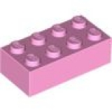 LEGO Stein 2x4 rosa hell-pink (3001)
