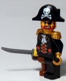 Minifigur Captain  Pirates (6299-2)