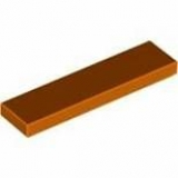 LEGO Fliese 1x4 dunkel orange (2431)