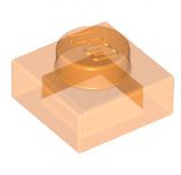 LEGO Platte 1x1 transparent orange (3024)