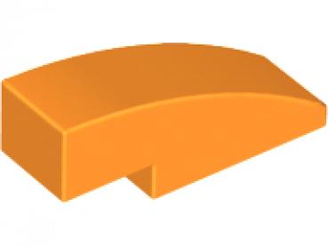 Lego 4 Orange 2x2 Curved Smooth Slopes brick block NEW