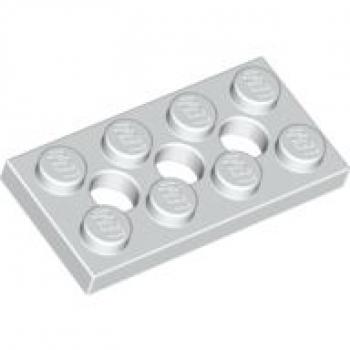 LEGO Bau- & Konstruktionsspielzeug 1 Lego Technik Technic Stein 2x4 3709b hellgrau