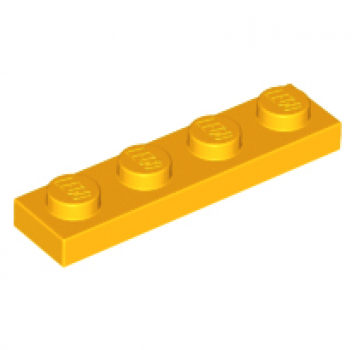 LEGO Platte 1x4 zart orange (3710)