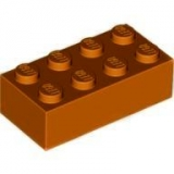 LEGO Stein 2x4 dunkel orange (3001)