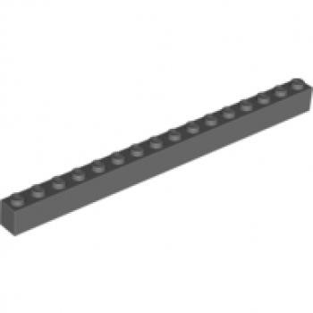 4x LEGO® 1x16 Steine schwarz 2465 black bricks