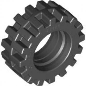 Lego®  8 Reifen mit Felge 8 x 9 mm weiß 4 Achsen in schwarz  30027 30028