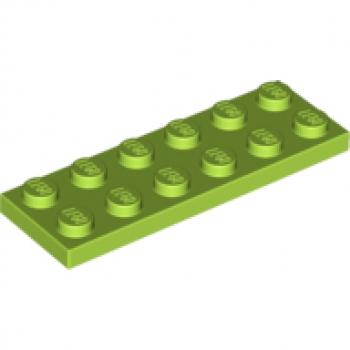 Lego 6 x Platte Bauplatte flach 3795   2x6 Noppen  dunkelbraun