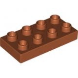 DUPLO Platte 2x4 dunkel-orange 40666