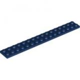 2 x LEGO  2x16 große Platte in  Dunkel Blau  4282