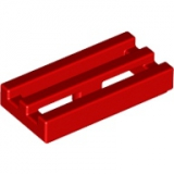 LEGO Fliese Grill 1x2 rot (2412)