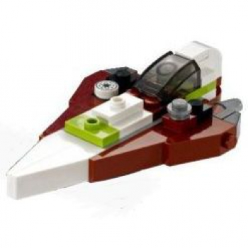 Mini-Set SW Jedi Starfighter dk-rot/weiss 75006