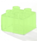 Junior Stein 2x2 transparent leuchtend glow in the dark (J3437)