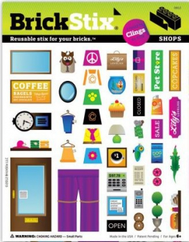 BrickStix Haftsticker Set Shops (Stix5)