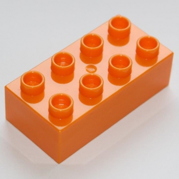 JUNIOR Baustein 2x4 hell orange (C3011)