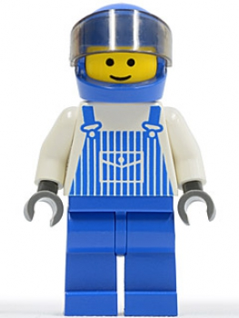 Minifigur Overall mit Helm (024)