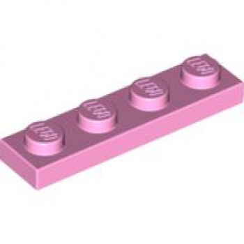 Platte 1x4 rosa / hell-pink (3710)