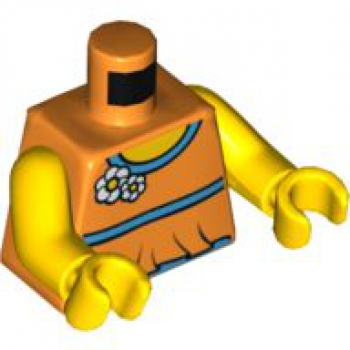 LEGO Minifig Torso female orange mit 2 Blumen (1585)