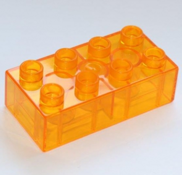 JUNIOR Stein 2x4 transparent orange (C3011)