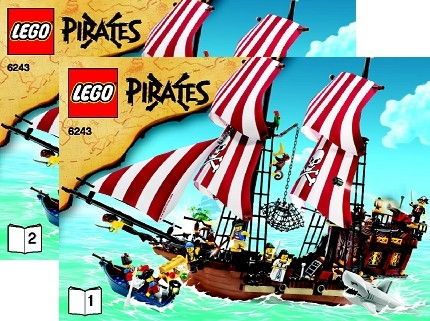 lego brick shop lego einzelteile und ersatzteile lego 6243 grosses piratenschiff bauanleitung. Black Bedroom Furniture Sets. Home Design Ideas