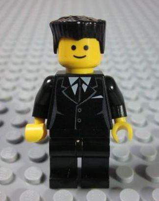 lego brick shop lego einzelteile und ersatzteile lego city minifigur anzug haar schwarz. Black Bedroom Furniture Sets. Home Design Ideas