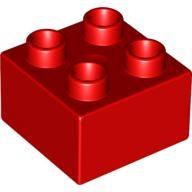 lego brick shop lego einzelteile und ersatzteile duplo 343721 stein rot 2x2 3437 lego. Black Bedroom Furniture Sets. Home Design Ideas