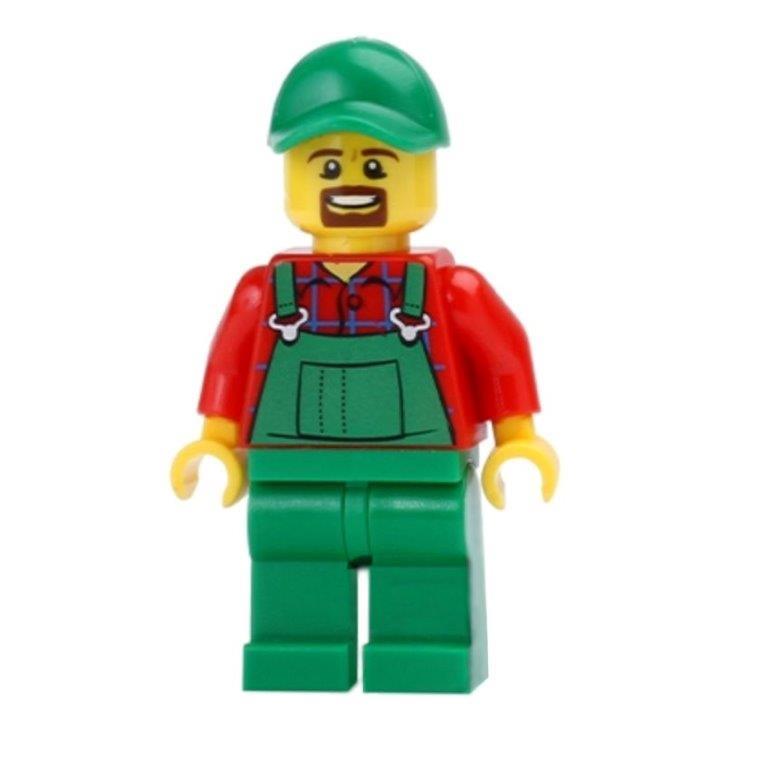 lego brick shop lego einzelteile und ersatzteile lego cty499 minifig figur landwirt bauer. Black Bedroom Furniture Sets. Home Design Ideas