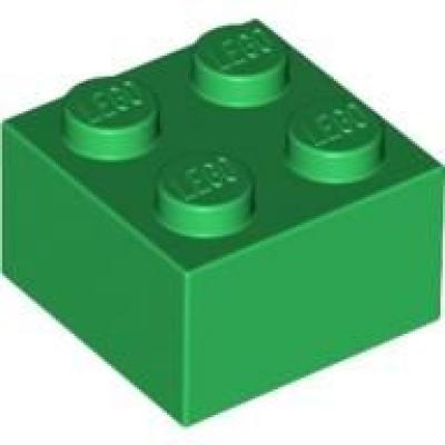 300328 Lego Basic Steine Brick 2 x 2 Grün 10 Stück Neu
