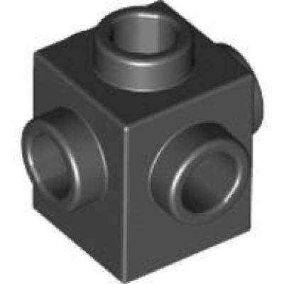 LEGO STEINE 50x KONVERTER 1x1 SCHWARZ MIT 5 SEITLICHEN NOPPEN NEUWARE 4733