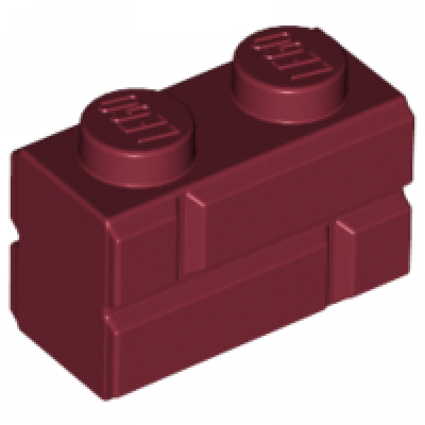 Lego Stein 1x3 Dunkelrot 5 Stück 1808
