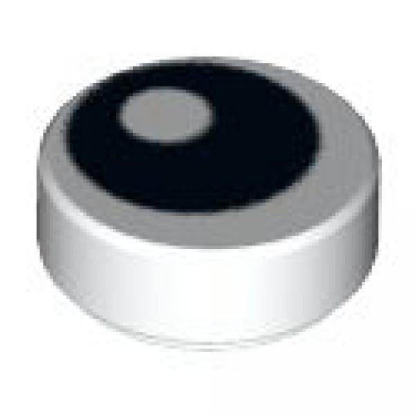 75827 #BC01 LEGO®  4 x 98138pb036 Fliese 1 x 1 rund blau mit weißen Stern